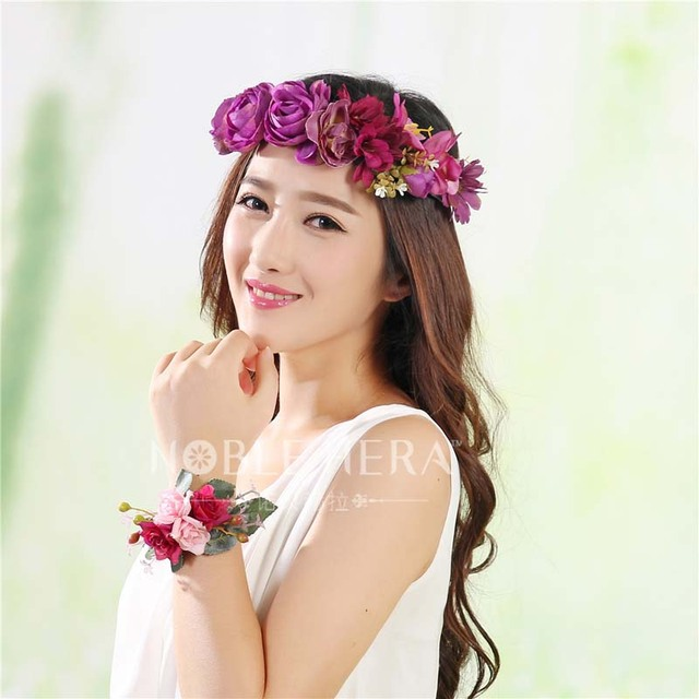17CM Floral Crown Headband 8036a446a2a