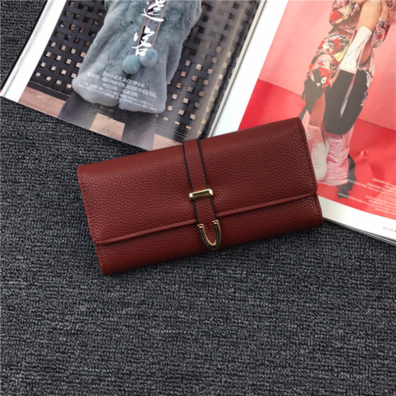 Women Wallets Brand Design High Quality Genuine Leather Wallet Female Hasp Fashion Dollar Price Long Purse Card Holder Wallets Men's Bags