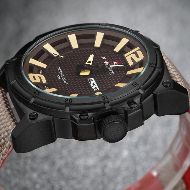 Reloj militar de cuarzo con pulsera de nylon