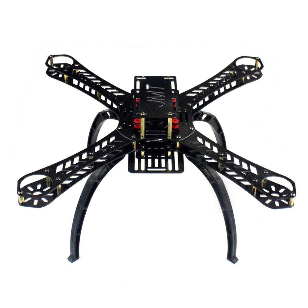 X4 380 360 310 280 250mm distancia entre ejes fibra de vidrio Alien a través de Mini cuadricóptero Kit DIY RC multicóptero FPV Drone F14889/93