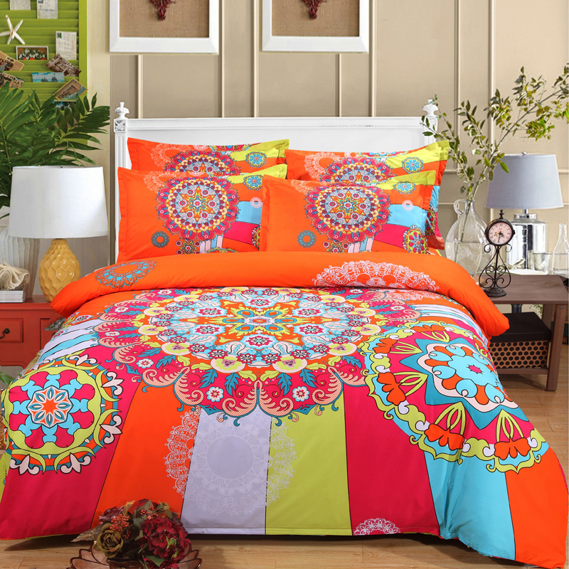 Designer Bedding Set 4pcs Bohemia National Duvet Doona