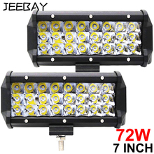 7 Inch 72W Led Work Light Led Beams 4x4 Led Bar Offroad Car Accessorie Flood Spot