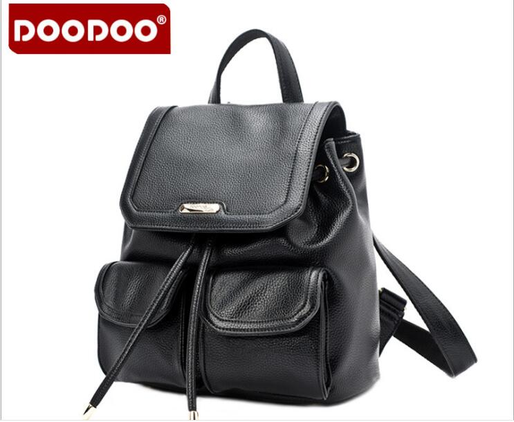 Original DOODOO FR418 Women Backpack School Bags High Quality PU Leather Backpacks for Teenagers Girls Preppy Style Mochila 2017 new fashion backpacks men travel backpack women school bags for teenagers girls pu leather preppy style backpack