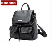 Оригинал doodoo fr418 женщины рюкзак школьные сумки высокого качества pu кожаные рюкзаки для подростков девочек опрятный стиль mochila