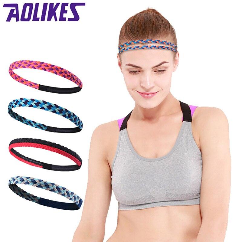 Aolikes High Quality cotton sweat headband for men Sweatband women Yoga Hair Bands Head Sweat Bands Sports Safety Skid headband
