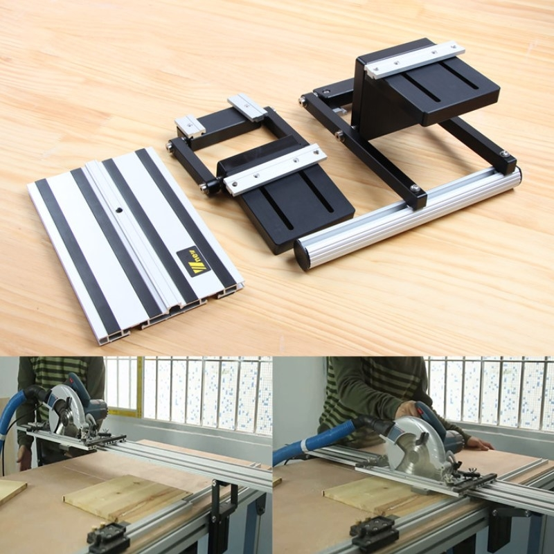 Electric Circular Saw Guide lift Set With Rail Lifting Accessories Woodworking Tool