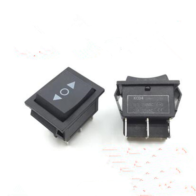 5pcs momentary rocker switch 6 pins double sides spring return to middle DPDT 3Position 16A 250vac 20a 125vac