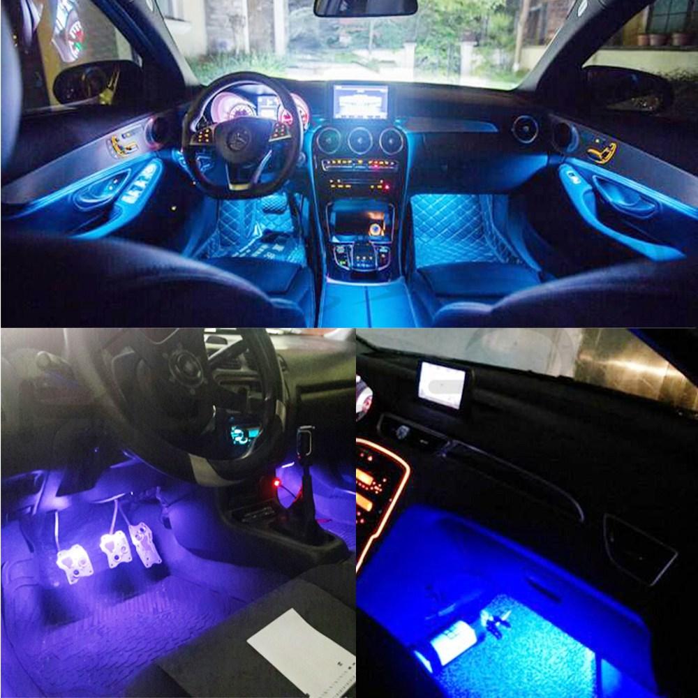 2X T10 RGB višebojna promjena žarulje LED šarene unutrašnjosti - Svjetla automobila - Foto 4
