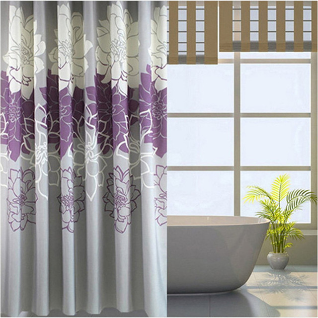 Shower Curtains+ PVC Hooks Polyester waterproof shower curtain 180 ...