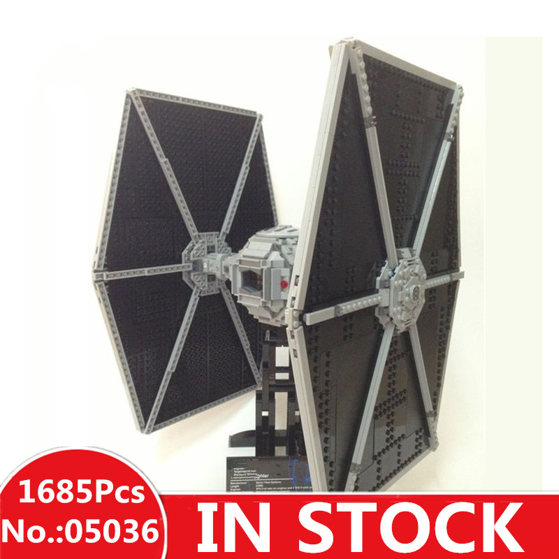 H&HXY IN STOCK 1685pcs 05036 star Tie Fighter wars Building Educational lepin Blocks Bricks Christmas Toys 75095 Gifts lepin 05036 1685pcs star series wars tie building fighter educational blocks bricks toys christmas gifts compatible 75095