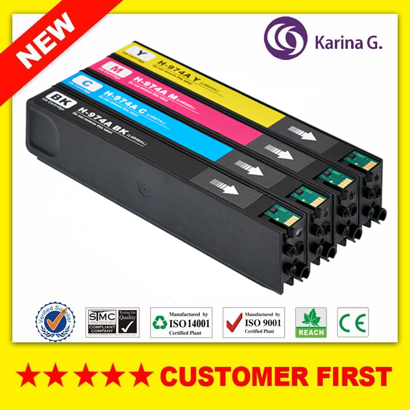 4PK Compatible ink cartridge For HP974 HP974A suit For HP PageWide 352dw 377dw 452dw 477dw 552dw 577dw 577dw hwdid 56xl 57xl ink cartridge compatible for hp 56 57 c6656a c6657a deskjet 450ci 5550 5552 7150 7350 7000 2100 220 printer