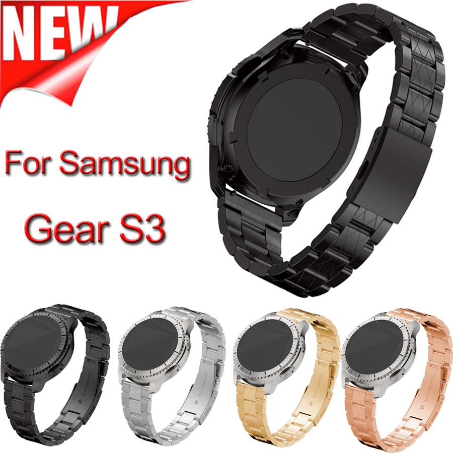 22MM Width Smart Metal Watch Band For Samsung Gear S3 Strap Stainless Steel wristband Gear S3 for man and woman Classic Bracelet wireless cradle charger for samsung gear s2 classic smart watch