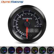 Dynoracing 52 мм двойной дисплей Воздушный датчик соотношения топлива 7 цветов светодиодный воздушный измеритель соотношения топлива автомобильный измеритель с шаговым двигателем воздушный/топливный датчик