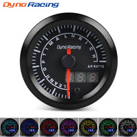 Dynoracing 52mm Dual Display Air fuel ratio gauge 7 colors Led Air fuel ratio meter Car meter with stepper motor Air/Fuel gauge