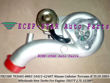 Free Ship TB2580 703605 703605-0001 703605-0002 14411-G2405 14411G2402 Turbo For Nissan Cabstar Terrano II TL18 2001- TD27T 2.7L