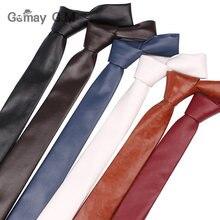 Novo couro do plutônio gravatas para homens casual gravatas do plutônio moda sólida gravata dos homens para o negócio do casamento terno gravata
