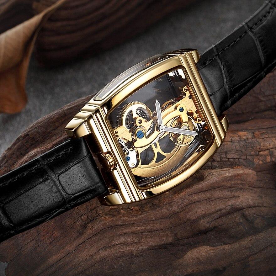 HTB12n.NSrvpK1RjSZFqq6AXUVXa9 Transparent Automatic Mechanical Watch Men Steampunk Skeleton Luxury Gear Self Winding Leather Men's Clock Watches montre homme