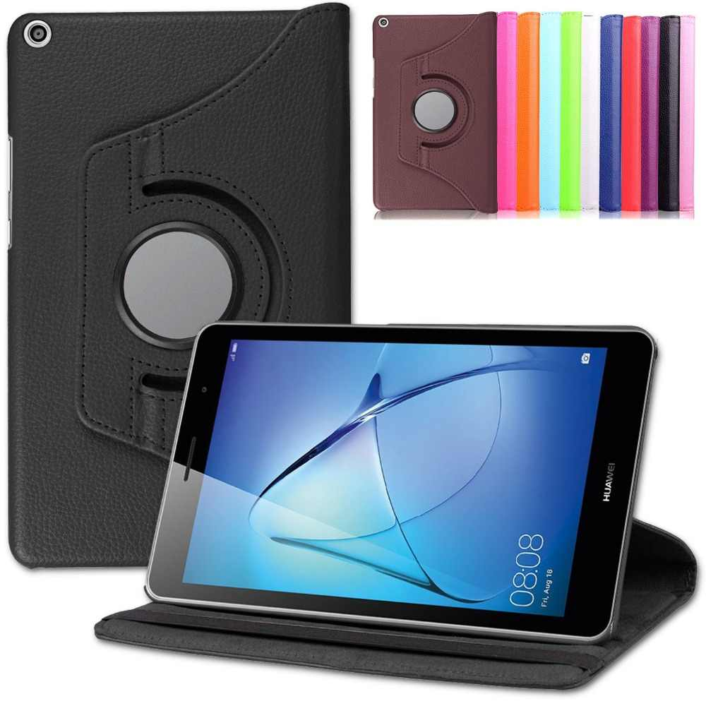 Tablet Case Voor Huawei Media Pad T3 8.0 360 Roterende Flip Pu Cover Stand Smart Case Tablet Pc Beschermende Voor huawei T3 8 Inch