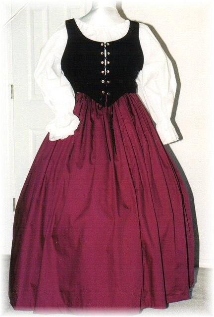 Burgundy RENAISSANCE Gown Dress PLUS Size Halloween Costume Adult Womens  Size 1X 2X 3X 4X 5X - 3 pcs New cf0b4d9b4a3a
