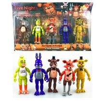 Cinq Nuits À Freddy FNAF de 5.5 Pouce PVC Action Figure jouet Foxy Or Freddy Chica Freddy Avec 2 Couleur De Noël cadeau