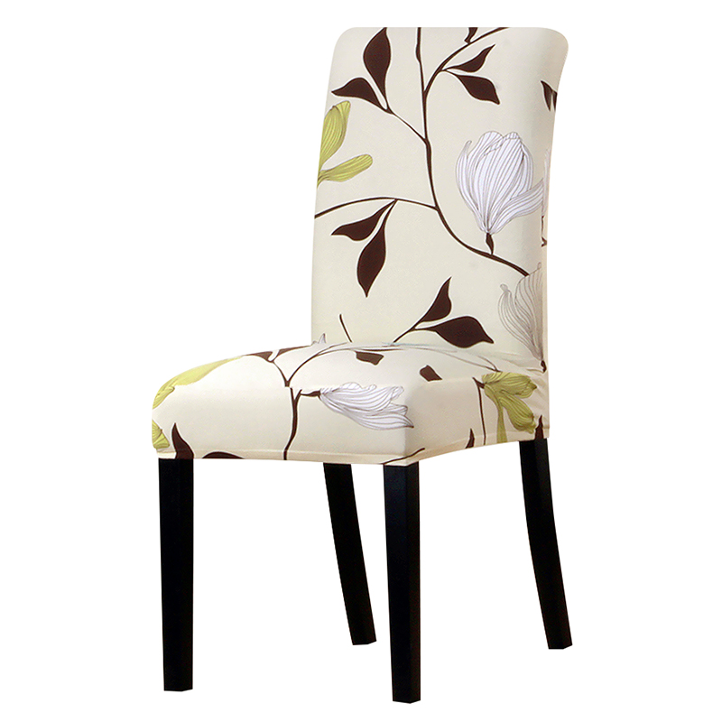 Printing grey flower chair cover Slipcovers Stretch Removable Dining seat Covers Hotel Banquet restaurant housse de chaise 64