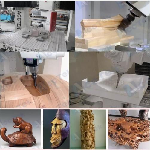 AccTek AKG1212 petite entreprise CNC machine de gravure sur bois petite CNC machine de découpe de bois