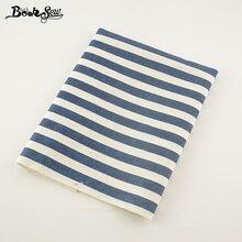 Booksew темно-синяя полоса хлопок лен ткань китайский стиль Tissu для сумки скатерть шторы украшения Zakka швейный материал см