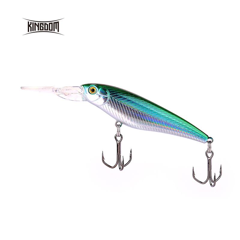 Kingdom Fishing Hard Bait Minnow Suspending Action 60mm/5.6g Artifical Fishing Wobbler With 3D Fish Eye Model 5356