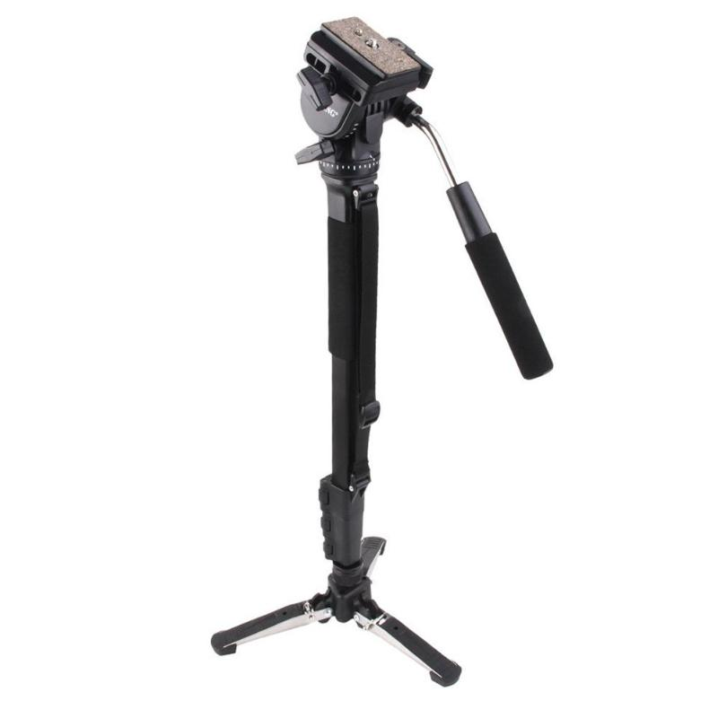 Professional 288 Monopod & Fluid Pan Head Ball & DV Unipod Mobile Phone Clip Holder for Canon Nikon DSLR Camera Monopods ulanzi vct 288 58in photography tripod monopod unipod with fluid pan head quick release plate for iphone canon nikon dslr camera