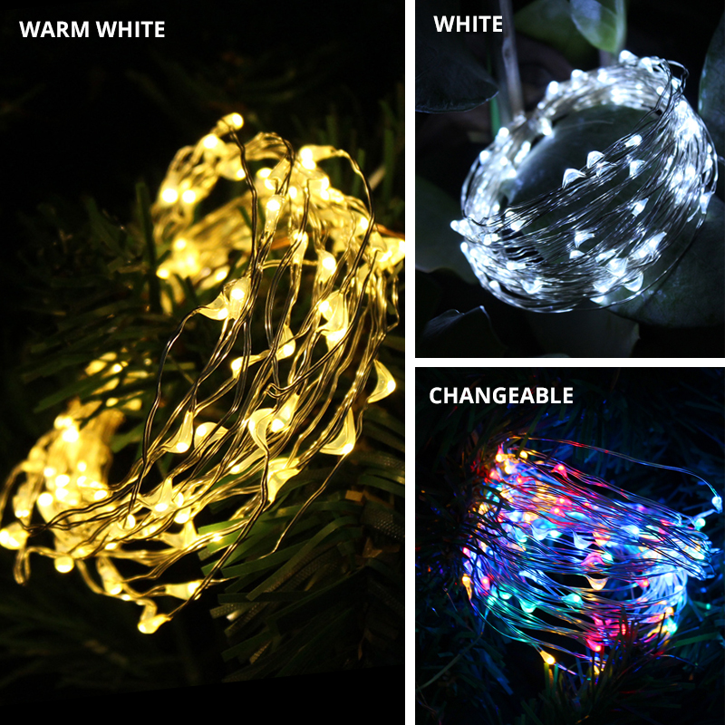LED Solar Light Outdoor Waterproof Fairy Garland String Lights Christmas Party Garden Solar Lamp Decoration 7/12/22/32/42M 2