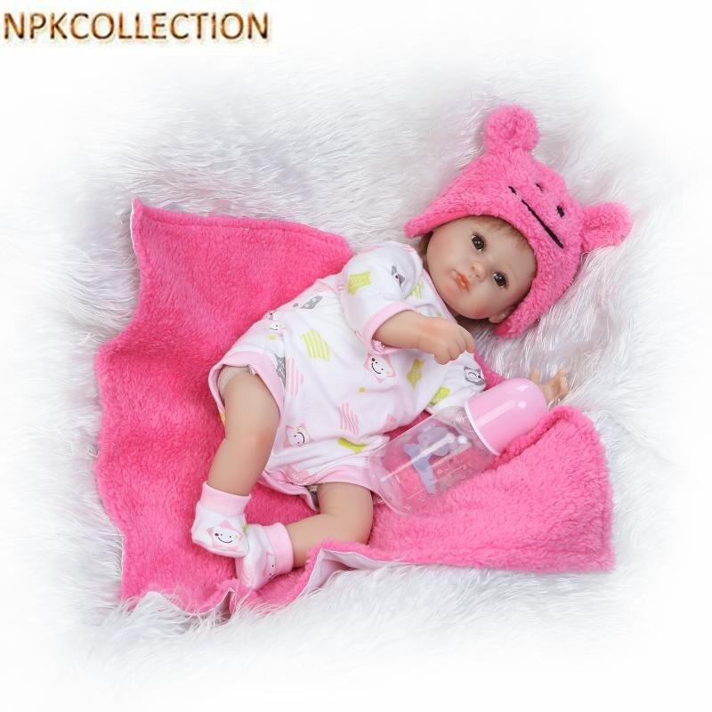 NPKCOLLECTION 37CM Mini Reborn Dolls Baby Alive Soft Toys for Children,15 Inch Silicone Reborn Dolls Newborn Baby Doll for Girls