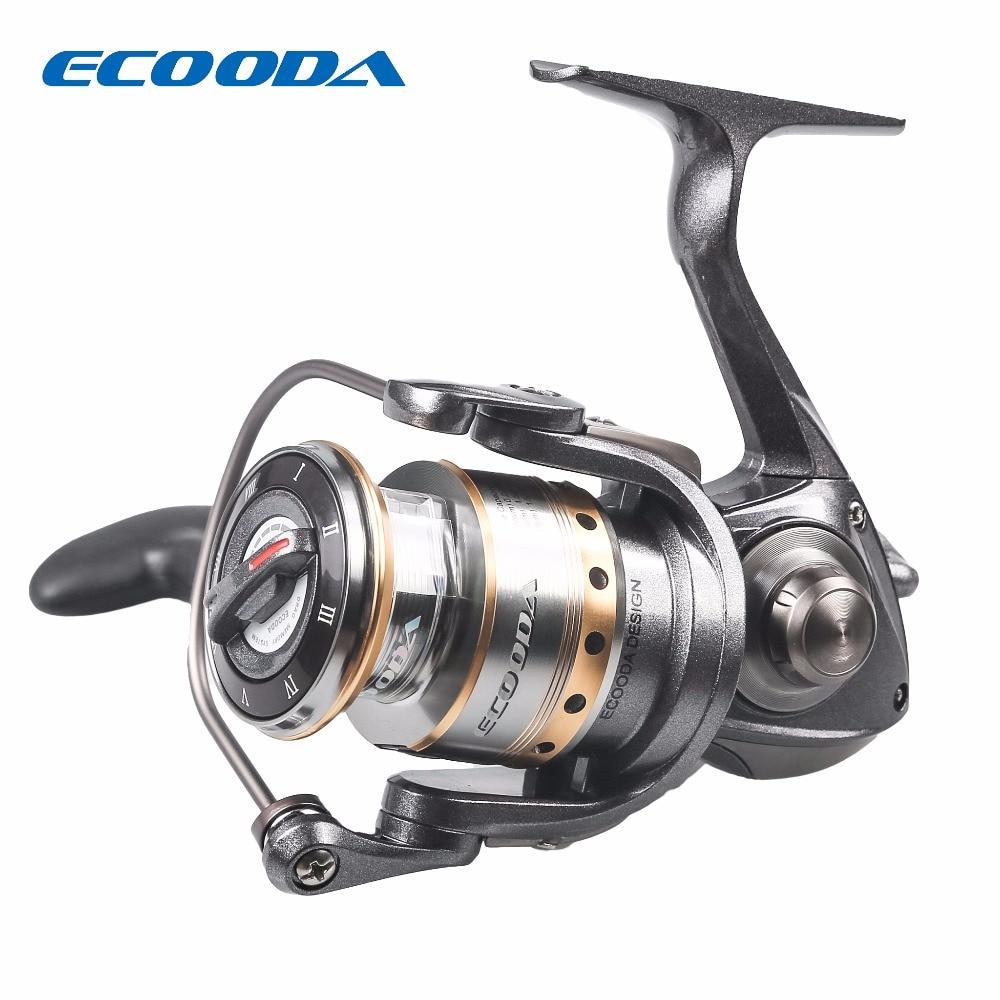 ECOODA 5.1:1 Carbon Spinning Reel Weel 10+1BB Ball Bearings Max Drag 4kg 2000 Series Metal Spool Lighter Stronger Lure Fishing tokushima hf series all metal double bearing 5 1 bearings spinning reel 4 5 1