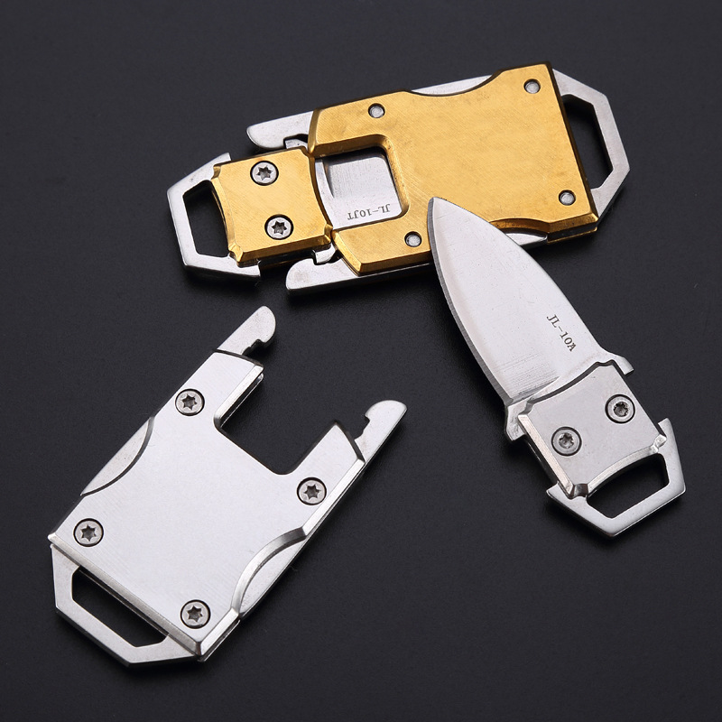 High Quality Portable Folding Stainless Steel Knife Keyring Outdoor Sports Camping Hiking Emergency Self-defense Stinger Tools