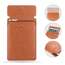 Button pocket Sleeve Cover for iPad Pro 10.5 Pouch Bag  with Pencil Slot case 9.7 and new ipad 11 2018 Release