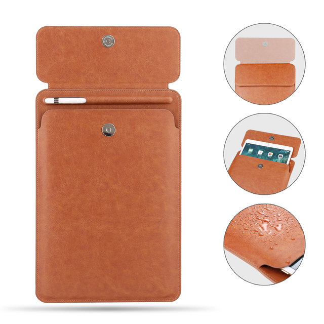 new style a7738 b8ac0 US $14.53 36% OFF|Button pocket Sleeve Cover for iPad Pro 10.5 Pouch Bag  with Pencil Slot case for iPad Pro 9.7 and for new ipad 11 2018 Release-in  ...