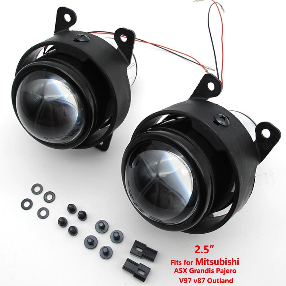 Taochis 2.5 дюймов би ксенон объектив проектора комплект HID фары H11 в противотуманки для Мицубиси ASX Грандис Паджеро V97 в87 Запределье