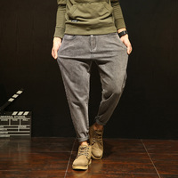 Jacques Wolf Brand Original Grey Autumn Jeans Male Japanese Haroun Pants Tide Water To Wash Feet