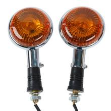 Motor Depan Orange Lens FR Turn Signal Flashers untuk Yamaha Virago XV250 250 06(China)