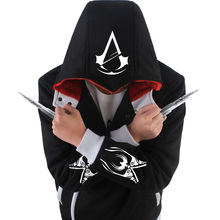2017 new darker hoodies men hooded Warm winter fashion Thickening assassins creed hoodie Assassin's Creed thick Hoodie zipper