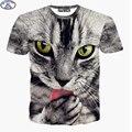 Mr.1991 11-20 años adolescentes camiseta para chicos o chicas 3D gatito cat impreso de manga corta cuello redondo camiseta del verano niños grandes A24