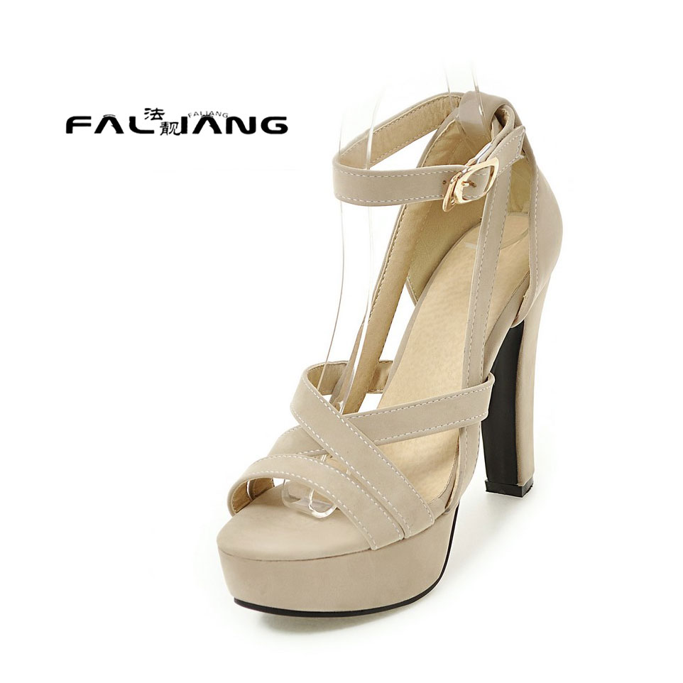 Womens sandals size 13 - Big Size 11 12 13 14 Waterproof The Rough Heels The Pu Material Women S Sandals Women S