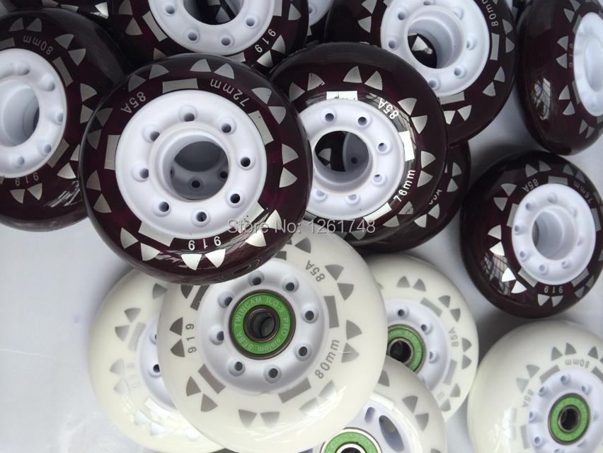 Prix pour 8 roues! livraison gratuite! haute qualité skate roues/plat Hanawa 72mm76mm80mm85a