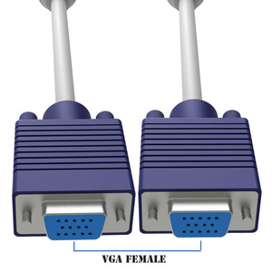 Image 4 - 15 핀 1 PC 2 모니터 듀얼 비디오 방식 VGA SVGA 확장 모니터 VGA 분배기 케이블 리드 HD 1080P 컴퓨터 PC 노트북