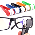 Handle Eyeglass Sun Glasses Microfiber Spectacle Cleaner Clean Wipe Random Color