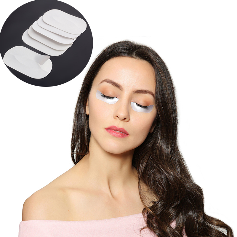 Free Shipping 50Pcs/Pack Silk & Lint Under Eye Patchs Pads Stickers For Eyelashes Extension Beauty Tool