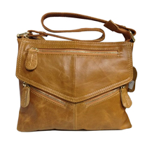 2016 Women's Real Cowhide Oil Genuine Leather Handbag Female Vintage Shoulder Messenger Bag Tassel Cross-body Casual Clutch