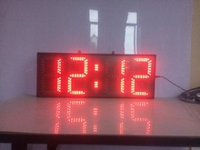 8inch red color hours and minutes led clock with countdown timer( HST4-8R)