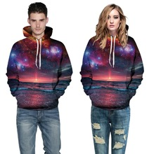 New Arrival Adult Beach Star Printing Hooded Sweatshirts S-XL