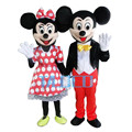 New adulto para mickey e minnie casal mouse mascot costume party fancy dress