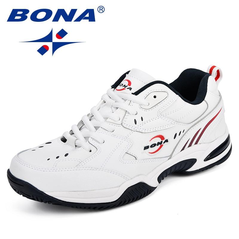 BONA Neue Designer Männer Tennis Schuhe Leder Beliebte Sport Schuhe Mann Outdoor Trainer Beliebte Sneakers Schuhe Bequeme Schuhe-in Tennisschuhe aus Sport und Unterhaltung bei AliExpress - 11.11_Doppel-11Tag der Singles 1